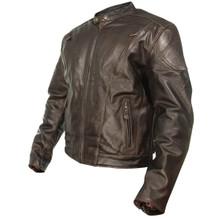 Brown Retro Premium Leather Vented Speedster Motorcycle Jacket