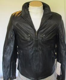 Armored Vented Womens Leather Motorcycle Biker Jacket Z/O lining by Xelement Closeout