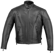 Mens Classic  cowhide Vented Speedster Jacket with Zip out lining