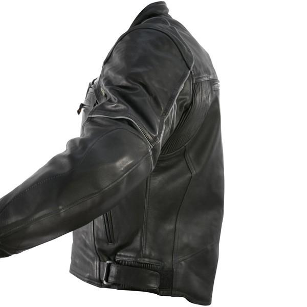 7d28733a0 Armored Biker Black Vulcan VNE-98431 Premium Leather Motorcycle Jacket