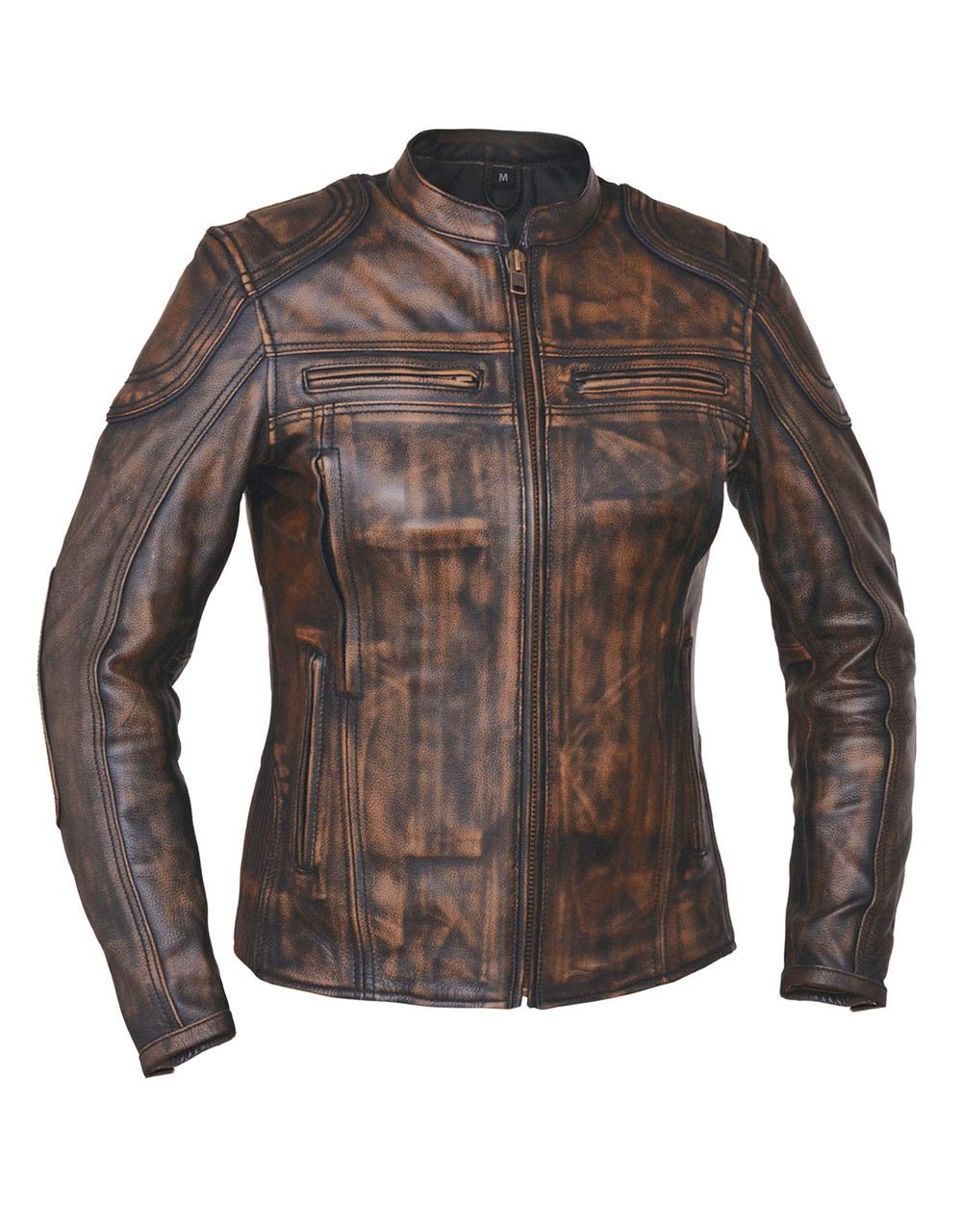 94be5fe1a 2A Distressed Nevada Brown Premium Leather Motorcycle biker Jacket