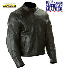 A1 Mens Premium American Naked Leather Armored Motorcycle Biker Jacket Med Closeout