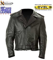 Mens Premium American Naked Leather Armored Motorcycle Biker Jacket 4XL CLOSEOUT