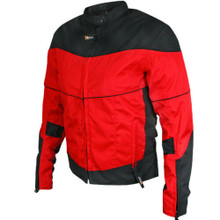New Women's Black Red Armored 600D Motorcycle Jacket XL,3XL,4XL CLOSEOUT SALE