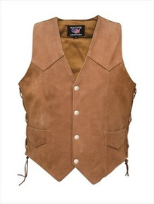 Ladies / Womens Brown Side Lace Vest