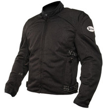 Men's Black Mesh Padded with Level-3 Advanced Armored Motorcycle Jacket by Xelement