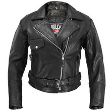 Black Vulcan Womens Leather Motorcycle Jacket Zip out lining CLOSEOUT Size LARGE