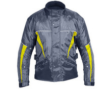 MENS TEXTILE INSULATED WATERPROOF ARMORED MOTORCYCLE JACKET NEW Black & Yellow SMALL CLOSEOUT