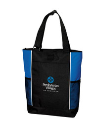 Black/Royal Blue Tote