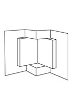 Book Step Card - Bazzill White 10pk