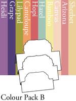 Tri-Fold Labels 4 - Colour Pack B