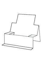 Chair Step Card - Bazzill White 10pk
