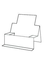 Chair Step Card - Bazzill White 10pk