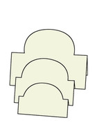 Tri-Fold Ovals - French Vanilla 10pk