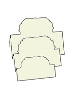 Tri-Fold Labels 4 - French Vanilla 10pk