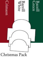 Tri-Fold Ovals - Christmas