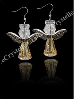 Swarovksi Angel Earrings-Gold