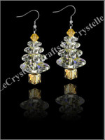 Swarovksi 4Tier Tree Earrings