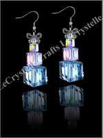 Swarovksi Present Earrings -Blue/Purple