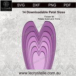 F80 Flower Solid Petals CUT FILE