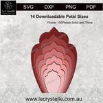 F150 Flower Solid Petals CUT FILE