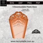 F290 Flower Patterned Petals SVG CUT FILE