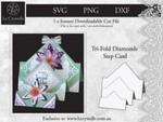Tri Fold Diamonds Step Card CUT FILE