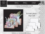Tri Fold Labels 1 Step Card CUT FILE