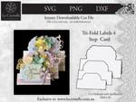 Tri Fold Labels 4 Step Card CUT FILE