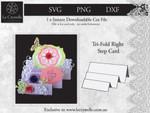 Tri Fold Right Step Card CUT FILE