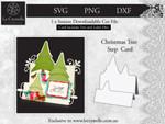 Christmas Tree Step Card CUT FILE