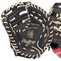 Rawlings Heart of the Hide Black/Tan First Baseman's Glove (Right Hand Throw Only)