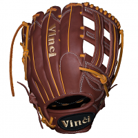 "Vinci Pro BMB-OB Rich Brown and Yellow 13"" Glove (Right Hand throw only)"