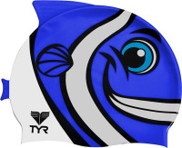 TYR Kid's CharacTYR Happy Fish Silicone Swim Cap