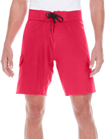 Burnside Men's Dobby Stretch Boardshort - Red