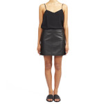 HARPER LEATHER MINI SKIRT