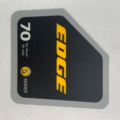 minn kota edge 70 decal hand control new style. Black Bedroom Furniture Sets. Home Design Ideas