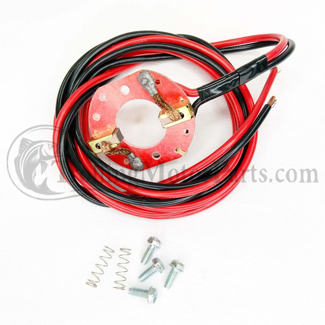 minn kota trolling motor wiring harness motor guide brush plate kit  w wires  trollingmotorparts com  motor guide brush plate kit  w wires