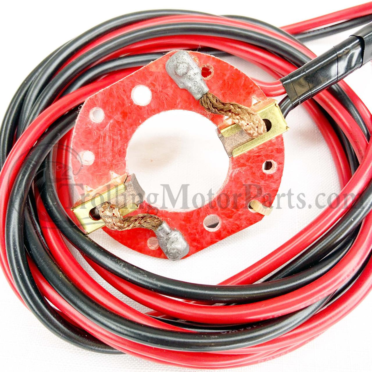trolling motor wiring guide motor guide brush plate kit  w wires  trollingmotorparts com  motor guide brush plate kit  w wires