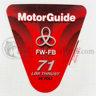 Motor Guide Freshwater 71 Decal (FW-FB)