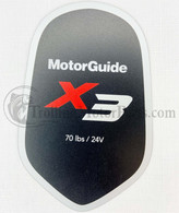 Motor Guide X3 70 Decal (Hand Control)