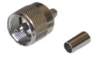 Mini-UHF Plug Crimp RG58