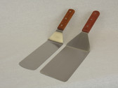 "8""X3"" Ink Mixing Spatula: Angled Stainless Steel Blade w/Wood Handle"