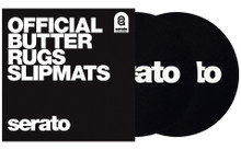 "7"" Serato 'Butter Rug' Slipmats BLACK  (pair)"
