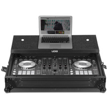 UDG Ultimate Flight Case Pioneer DDJ-RX/ SX3 Black MK2 Plus (Laptop Shelf)