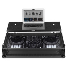 UDG Ultimate Flight Case Pioneer DDJ-1000 Black Plus (Laptop Shelf + Wheels)