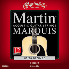 3 Sets of Martin Marquis 12 String, Light, 80/20 12-54 (3 PK)