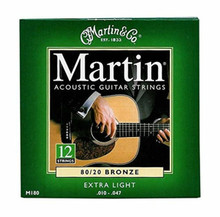 3 Sets of Martin 12 String, Extra Light, 80/20 10-47 (3 PK)