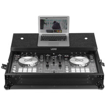 UDG Ultimate Flight Case Pioneer DDJ-RR/SR/SR2 Black Plus (Laptop Shelf)