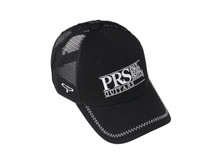 PRS Guitars: Black Trucker Hat, White PRS Logo